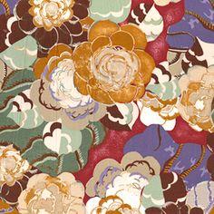 Victoria & Albert Museum fabric at Sew Mama Sew -- she always has the neatest fabric.