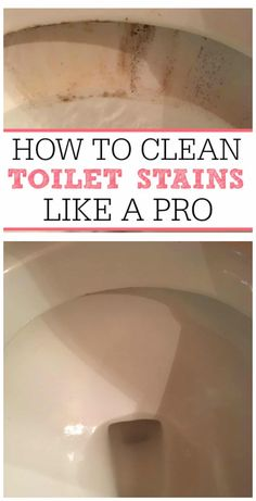 Get rid of those awful toilet bowl stains without scrubbing. Check out how to cl… Get rid of those awful toilet bowl stains without scrubbing. Check out how to clean toilet stains like a pro and get your toilet clean again. Deep Cleaning Tips, House Cleaning Tips, Diy Cleaning Products, Cleaning Solutions, Bathroom Cleaning Tips, Spring Cleaning Tips, Move Out Cleaning, Cleaning Supplies, Casa Clean