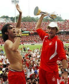 Fernandão e Clemer comemorando a conquista do Mundial em 2006 na volta ao Beira-Rio