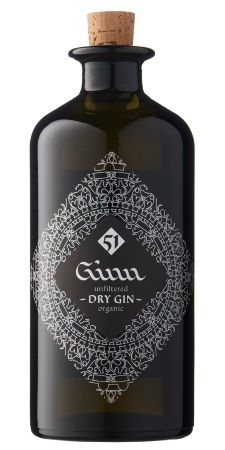 Unfiltered organic dry gin PD