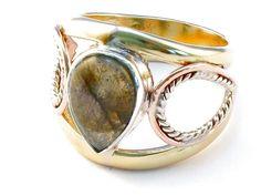 Handmade labradorite .925 Sterling Silver Ring Size 7 #handmadesilverjewelry
