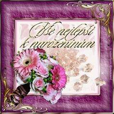 Narozeniny - Obrázková přání Happy Birthday Quotes, Humor, Rose, Beautiful, Happy Birthday Captions, Pink, Humour, Funny Photos, Roses
