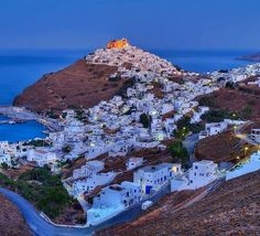 Astypalaia GR Greek Blue, Greece Islands, Beautiful Places, Mountains, Instagram Posts, Water, Travel, Outdoor, Fantasy