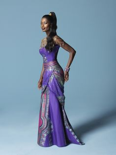 ELEGANT ANGELINA | Vlisco fashion look with the classic Angelina design