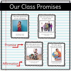 Our Class Promise Posters (class rules) Kindergarten Classroom Organization, Classroom Management Plan, Classroom Procedures, Classroom Behavior, Behavior Management, Classroom Ideas, Preschool Behavior, Classroom Environment, Classroom Displays