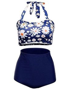 Daisy Printed Bandeau Swimsuit