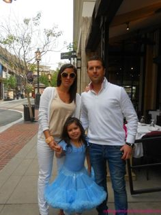 Sophia Grace with her parents...