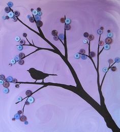 Button tree with bird