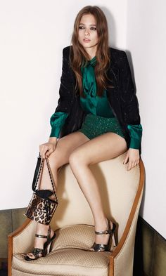 emerald sequins. fab for a holiday party.