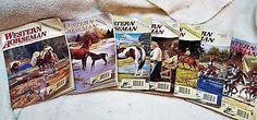 lot of 7 vintage WESTERN HORSEMAN magazines, 1992