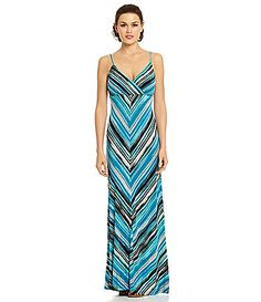 $89.90 Gibson and Latimer Halter Colorblocked Maxi Dress #Dillards ...