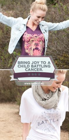 Bring smiles to the faces of brave children battling cancer.  With every purchase this week you help give a child a box filled with toys, candy, and more to show them they aren't alone.  Help spread happiness, click here: www.sevenly.org/anna