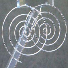 Handmade Silver Swirl Hoop Earrings