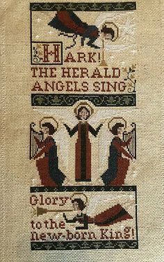 Condition is New. Christmas Cross, Christmas Angels, Everything Cross Stitch, Cross Stitch Collection, Types Of Embroidery, Cross Stitching, Bohemian Rug, Quilts, Board