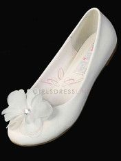 Click to enlarge : Ballerina slippers with Flowers for Girls - TS73
