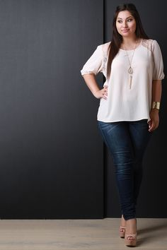 Lace Yoke Necklace Top