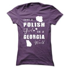 POLISH GIRL ༼ ộ_ộ ༽ IN GEORGIA Are you proud of your homeland and loved it endlessly? Get one today and represent by wearing it proudly!  See more at Designer: iziPOLISH, POLAND, GEORGIA