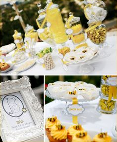 Beautiful Bee inspired Baby shower ideas... I was able to easily re-create most of it for my cousin's baby shower!