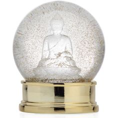 Buddha Snow Globe ($25) ❤ liked on Polyvore featuring home, home decor and buddha home decor