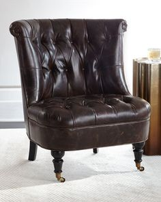 Neave+Tufted-Leather+Chair+at+Neiman+Marcus.