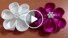 DIY Kreasi Bunga Dari Pita Satin - How to make a satin ribbon flower