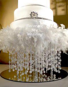feather cake stand idea for 10/13/2012 Dillard Wedding