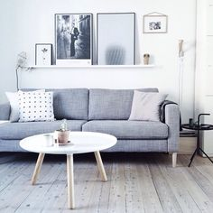 I'm clearly projecting my need to replace my navy sofa with a grey one (why did I think it was okay to choose a colour that wasn't grey or white!?) This is just what I want by @thatnordicfeeling | #inspo #instalove #interior #interiordecor #interiordesign #propertystyling #scandi #style #normanncopenhagen