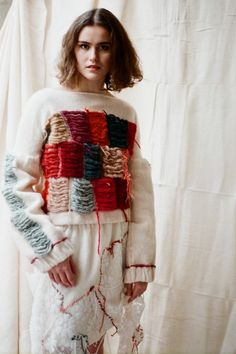Elin Manon is a fashion designer specialising in knitwear. Her signature is repurposed clothing and materials from unusual sources. View Elin's latest collection now. Net Curtains, Fashion Designers, Showroom, Knitwear, London, Lace, Clothes, Collection, Curtains