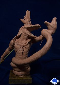 Made this for a contest onwww.modelsculpt.com. The theme is the Egyptian Mythologie, so here's Sobek fighting Apophis Made in Chavant NSP Medium Other views :blue-sheep.deviantart.com/a...