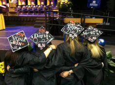 Nursing graduation caps. RN bsn. Decorated nursing caps
