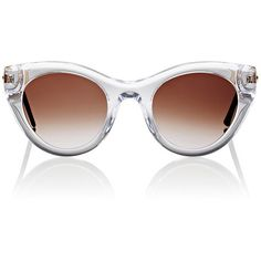 Thierry Lasry Women's Perky 00 Sunglasses ($299) ❤ liked on Polyvore featuring accessories, eyewear, sunglasses, multi, thierry lasry sunglasses, clear glasses, clear sunglasses, thierry lasry glasses and clear cat eye glasses