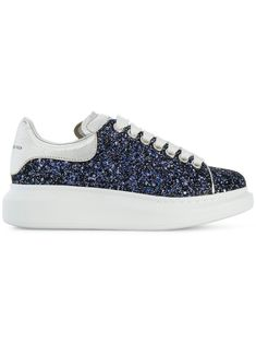 Designer Trainers For Women Blue Trainers, Blue Sneakers, Leather Trainers, Blue Shoes, Leather Sneakers, Shoes Sneakers, Glitter Shoes, Lace Up Shoes, Blue Glitter