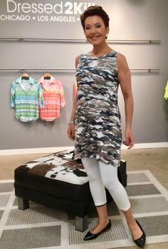d1aba532419 January 2017-Here's a sneak peak of a David Cline camo print tunic dress we