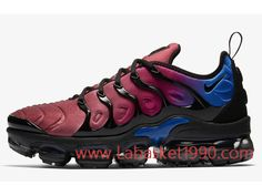 new style c2cbb ff54a Nike Air VaporMax Plus AO4550-001 Chaussures Nike Prix Pas Cher pour homme  Noir Bleu