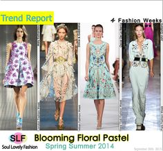 Floral Pastel Embellishment #Fashion#Trend for Spring Summer 2014 at New York, London, Milan, & Paris Fashion Weeks #NYFW #LFW #MFW #PFW #Spring2014 #Trends