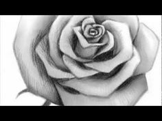 ▶ How to Draw an Open Rose - YouTube