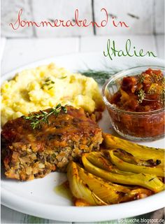S-Cuisine: Summer evening in Italy - vegan roast with saffron fennel and oven-baked . - S-Cuisine: Summer evening in Italy – vegan roast with saffron fennel and oven-roasted ketchup - Meat Recipes, Vegetarian Recipes, Dinner Recipes, Healthy Recipes, Healthy Eating Tips, Healthy Foods To Eat, Pot Roast Beef, Scalloped Potatoes And Ham, Smoked Beef Brisket
