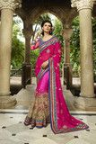 Pink Georgette Bridal Saree | Women Sarees Online Shopping India on Variation