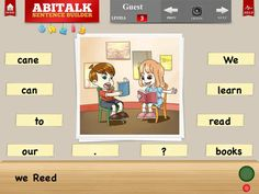 FREE today (reg 4.99) Sentence Builder for Special Needs Children