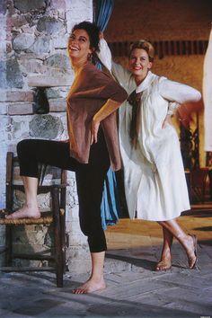 "Ava Gardner and Deborah Kerr on the set of ""The Night of the Iguana"" (1964)"