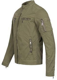 super popular 8414b 09ca8 Nagata Nagata Herren Jacke 50171104, 100% Baumwolle, 2 Brusttaschen Zipper,  Stehkragen oliv, GrM Jacken Amazon.de Bekleidung