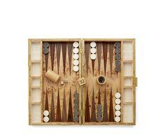 Cream Shagreen Backgammon Set - Aerin