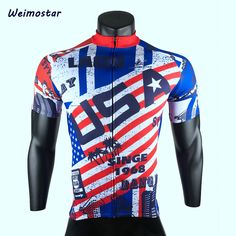 Weimostar New USA Men Pro Cycling Clothing Tops Bike Team Racing Cycling Jersey Summer Bicycle Ropa Ciclismo Breathable Shirt