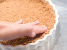 Oatmeal crust as a substitute for recipes that call for a graham cracker crust.