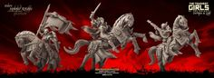 Update - Mounted Knights (Sisters - F) Elf Images, Dark Elf, Elves, Lust, Sisters, Miniatures, Knights, Entertaining, Fantasy