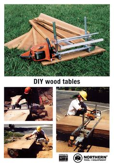 Create your own wood tables with chainsaw mills from Northern Tool