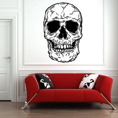 Huge Skull Decal now featured on Fab.  man cave style