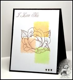 Benzi Stampz: Color Blocking and Honoring Kim    Cased a card by Kim Hahn aka Luv Flowers on Splitcoaststampers.....Mark's Finest Papers and Stamps a Heinrich Co. DT  http://www.marksfinestpapers.com/servlet/StoreFront