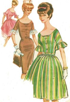 1960s McCalls Sewing Pattern 6275 Womens Dress with by CloesCloset