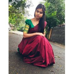 """Madhumitha (@madhumitha_illayaraja) added a photo to their Instagram account: """"Saree frm 👗 : @trend_lycollection ❤"""" Sari, Formal Dresses, Red, Instagram, Fashion, Saree, Dresses For Formal, Moda, Formal Gowns"""